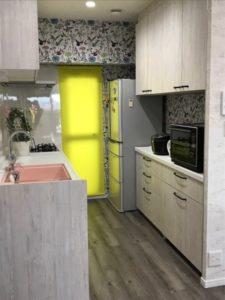 キッチン AFTER① キッチン入り口の壁を取り払い、スッキリしました